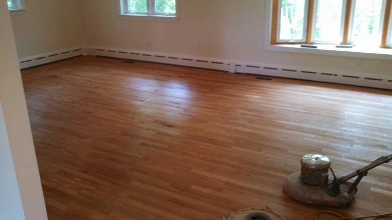 White oak and red oak floor stain Ellicott City MD