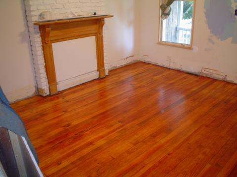 Living Room Red Oak Floor Restoration Annapolis MD