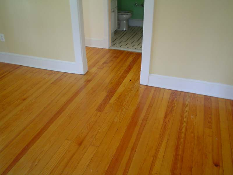 Heart of Pine Hallway Floor Repair Hagerstown MD