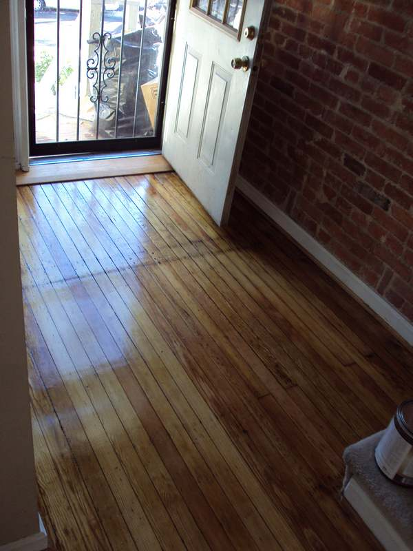 Antique Yellow Pine Floor Restoration Washington DC