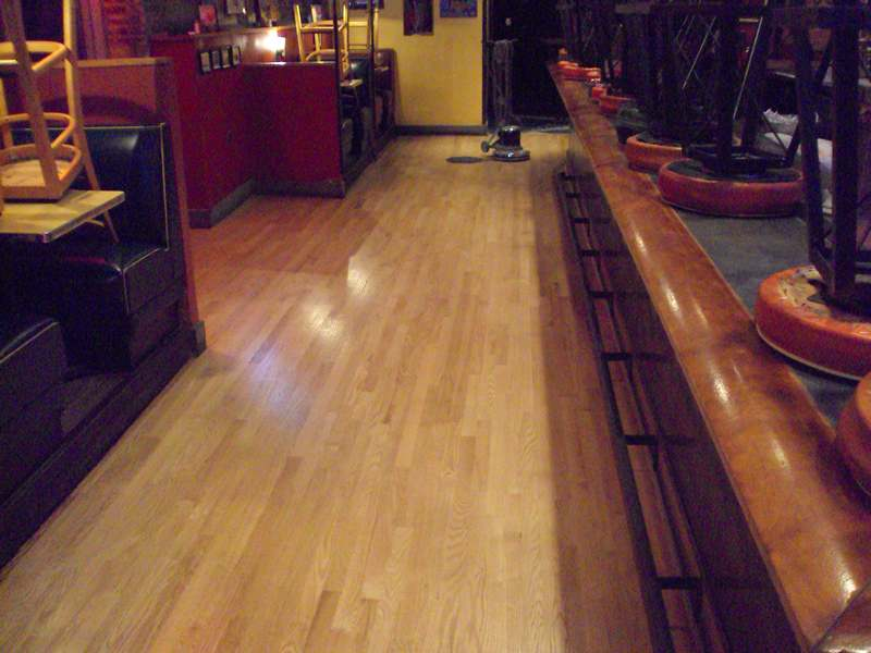 Buckled Red Oak Floor Repair - Baltimore MD Austin Grill